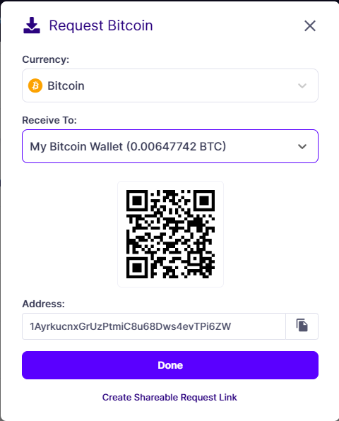 bitcoin wallet address example